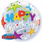 birthday stars bubble balloon qualatex
