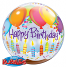 birthday balloons candles bubble qualatex
