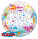bubble balloon birthday fireworks candles qualatex