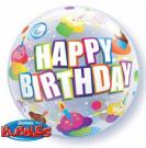 cupcakes birthday bubble balloon qualatex