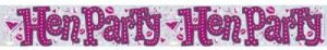 hen party bachelorette foil banner
