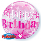 pink bubble balloon birthday qualatex