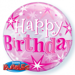 Birthday Pink Bubble Balloon